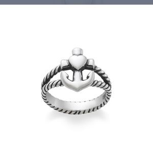 James Avery heart with cross